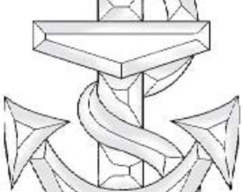 Stained Glass Supplies Anchor Bevel Cluster EC808