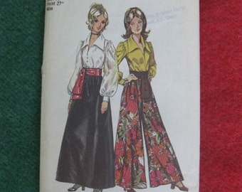 Simplicity Women's Size 14 Blouse, Skirt, Pantskirt and Sash Pattern 5235