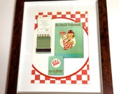 Bob's Big Boy Wall Art Vintage Matchbook Shadow Box Retro Kitchen Art Decor Collectable Gift California Wall Art 1950s Kitchen Wall Art Gift