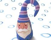 Santa Claus Figurine Blue