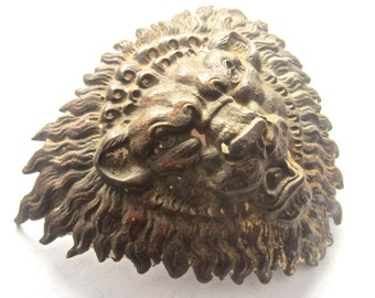 Old Gothic Brass Lion