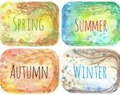 Seasons cards set