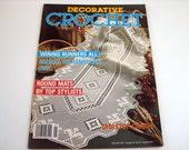 DECORATIVE CROCHET Pattern Booklet...Jan.1991 # 19 - Winning Decorative mats - doilies- tablecloths - vintage - winning runners