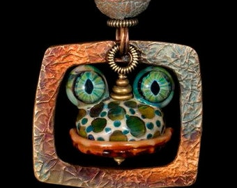 Glass frog bead....Special order item
