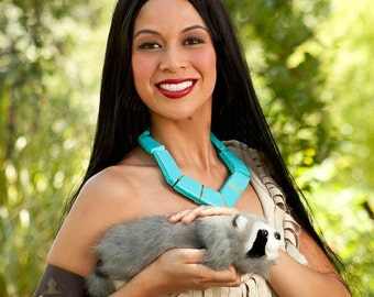 Pocahontas Indian Princess Costume Wig Adult Screen Quality
