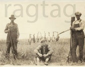 Vintage Photograph, Depression Era, Three Hunters, Duck Hunting, Paper Ephemera