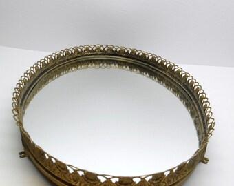Vintage Dresser Mirror Tray