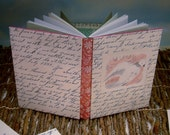 Slipcovered Peaceful Dove Writing Journal with Vintage Calligraphic Storybook Art Cover
