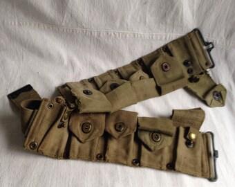 Vintage military belt  magazine belt cammo belt