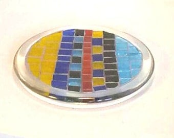 Stained Glass Mosaic Table Top Candle Holder Sun Catcher