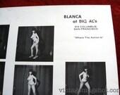 "BLANCA Of Big Al's Sixties Topless Poster San Francisco Strip Club Rare  17 1/2"" x 22 1/2"" North Beach"