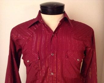 SALE Vintage Ely Cattleman Western Shirt
