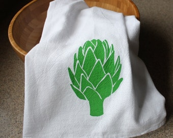 Artichoke Kitchen Towel Hand Screened