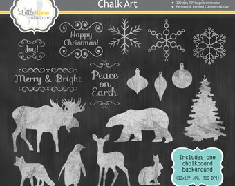 Popular Items For Christmas Chalk On Etsy