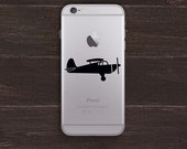 Small Airplane Vinyl iPhone Decal BAS-0308