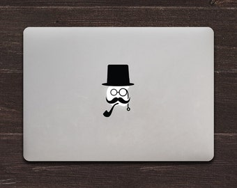 Gentleman Vinyl MacBook Decal BAS-0295