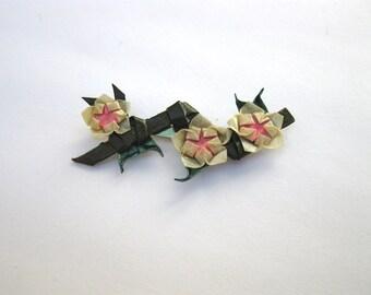 origami cherry blossom (sakura) light pink brooch