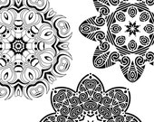 Coloring Pages for All Ages, Download & Print, Digital Art, Zendoodles, 10 Different 7-Inch Mandalas Kaleidoscopes, COLOR 2