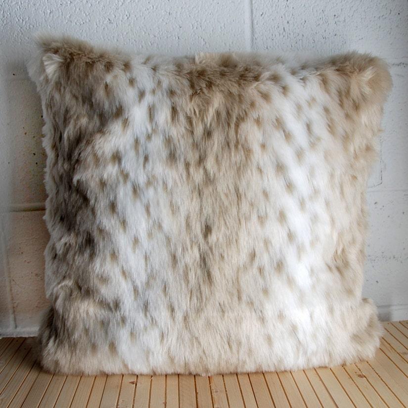 Snow Leopard Faux Fur Pillow Cover By Maisonboutique On Etsy