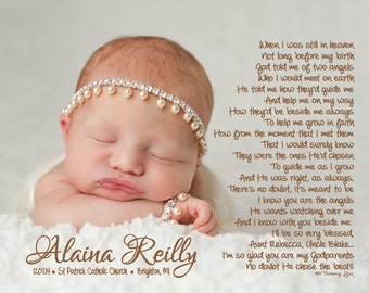 Baptism Gift for Godparents/Godmother/Godfather Personalized Thank You Poetry Print