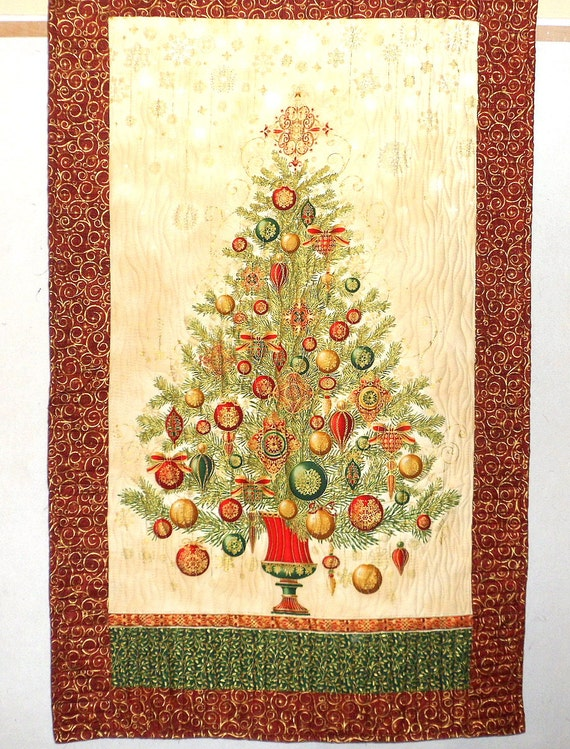 Christmas wall hanging tree quilt