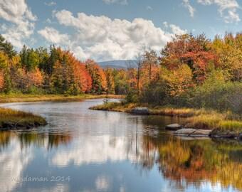 Maine Fall Foliage Photograph - Acadia Bar Harbor Area