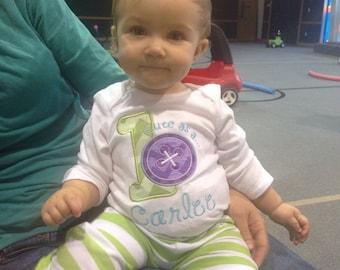 Cute as a Button Birthday Shirt, Cute as a Button. Button Birthday Shirt, Cute as a Button Birthday Theme, Personalized Button Shirt