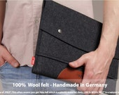 "13"" MacBook Pro Retina sleeve, case, cover, 100% wool felt, vegetable tanned leather, Hampshire LTS-ALB-PRO13R"