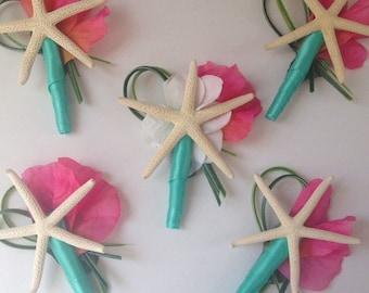 Starfish Boutonnière, Beach Wedding