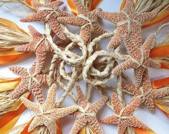 Starfish Aisle Markers, Chair Markers, Beach Wedding Decor