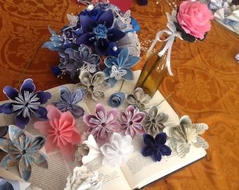 DIY Paper Flower Bouquet Kit Includes 8 Flowers Plus Supplies