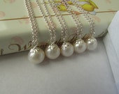SALE 15% OFF-Set of 5, Potato Pearl,Fresh Water Pearl, Pearl Necklace,Bridal Jewelry,Wedding Pearl.Bridesmaid Gift Was 56.99 Now 52.99
