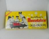 Vintage Walt Disney Mouseketeer Checkers Game