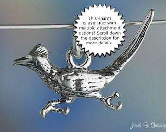Roadrunner Charm Sterling Silver Bird Southwest New Mexico Solid .925