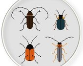 Instant download,free shipping,Cross stitch pattern, PDF,   beetles ,ZXXC0585