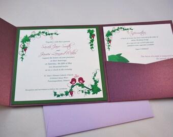 Printable PDF Vineyard Wedding Invitations for the DIY Bride