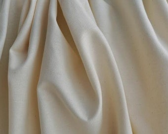 "Organic Muslin, 58"" wide, 100% Organic Cotton, Natural (undyed)"