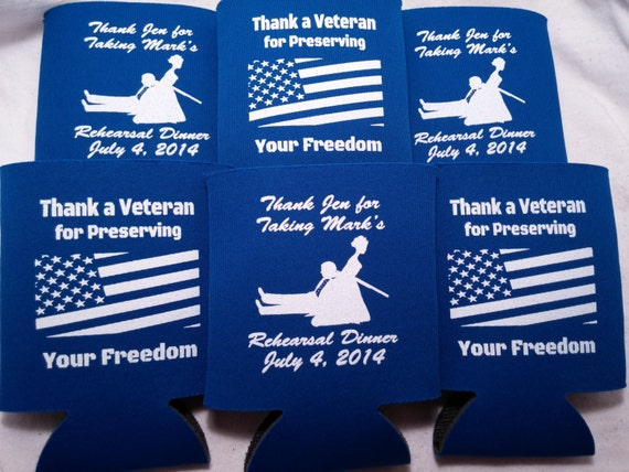 Military Wedding Party Favors American By Odysseycustomdesigns