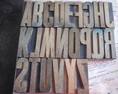 Vintage Letterpress Printers Wood Block Letters