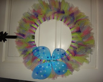 Spring or Summer Butterfly Wreath