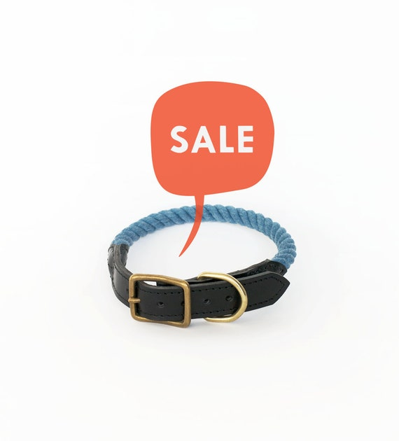 SAMPLE SALE Rope Collar in color Pond