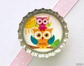 Owls Bottle Cap Magnet - owl magnet, owl party favor, owl favor, owl baby shower favor, owl theme party, owl handmade magnet, party supplies