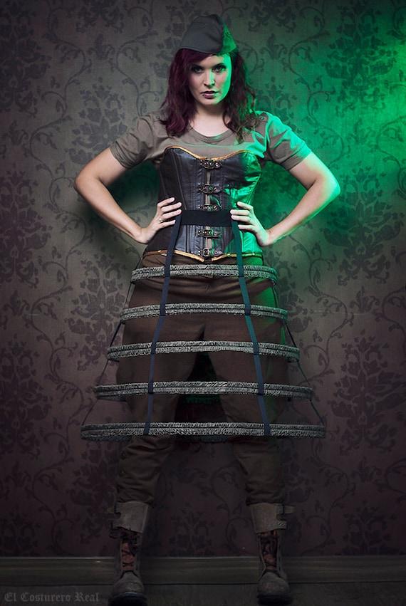 Cage skirt steampuk crinoline lolita dieselpunk