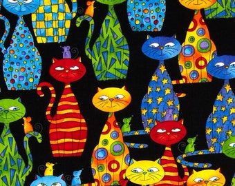 Love My Cats fabric By Timeless Treasures for Clothing/Crafting/Decorating/ Cat Lover's Fabric