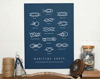 Nautical Knots Print | Sailing Print | Boating Knots | Maritime Art