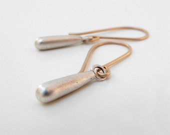 silver drop earrings solid gold silver earrings modern fine jewelry modern earrings silver gold dangle earrings modern