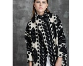 Winter Coat - Black & White Print (M217)