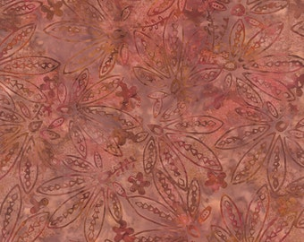 Sticks & Stones Batiks - Fern in Salmon by Laundry Basket Quilts for Moda Fabrics