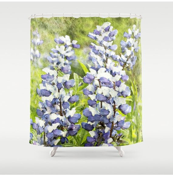 Shower Curtain French Country Lupine Botanical 71x74