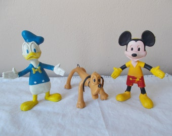 Bendable Walt Disney Toys Mickey Mouse, Donald Duck, Pluto